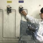 Laboratório de análise de gás